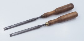PAIR OF THIN BE PARING CHISELS