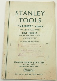 RARE STANLEY ENGLAND CATALOGUE