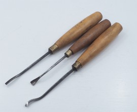 3 SUPER SMALL SPOON  CHISELS BY C. HILL