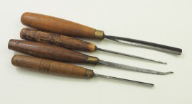 4 VARIOUS ADDIS CARVING CHISELS