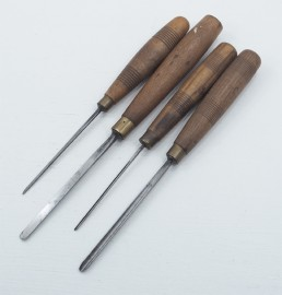 4 SMALL ADDIS CARVING CHISELS