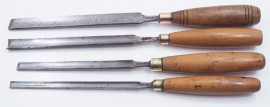 4 GOOD MARPLES LONG PARING GOUGES