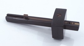 FINE ROSEWOOD & BRASS MORTISE GAUGE
