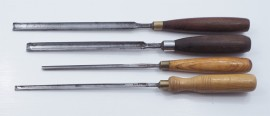 4 GOOD SMALL SIZE PARING GOUGES