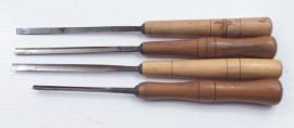 SET OF 4 SMALL C. HILL CARVING CHISELS